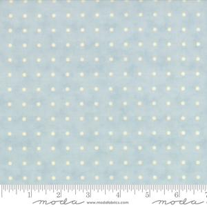 Moda Fabric Snowfall Prints - White on Ice Dots