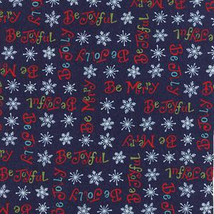Moda Be Jolly - Midnight Blue Be Jolly Words