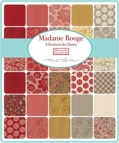 Moda Fabric Madame Rouge
