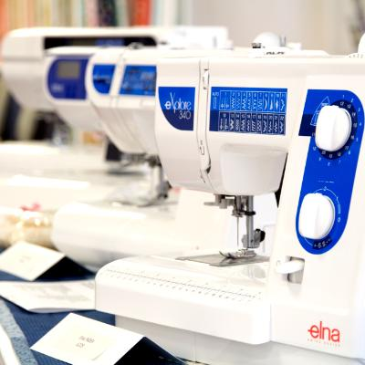 Janome and Elna sewing machines
