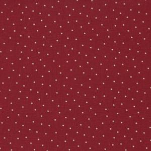 Stof Linen Blend - Red Dot