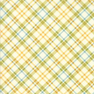 Moda Fabric - The Treehouse Club - Pickle on Vanilla Picnic Plaid