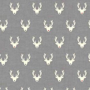 Makower Scandi 3 - Stags Grey