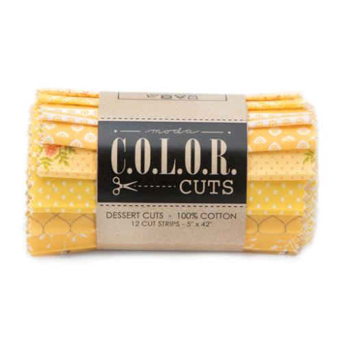 Moda Color Cuts - Lemon Drop Dessert Roll