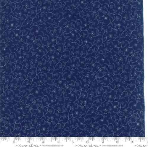 Moda Fabric - Regency Blues - English Blue Belsay Castle