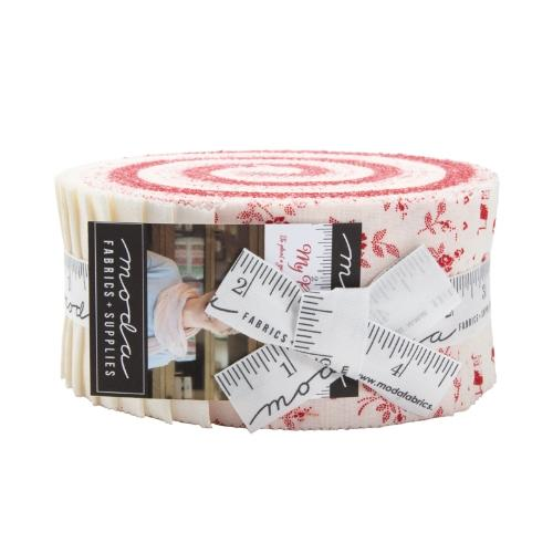 Moda My Redwork Garden Jelly Roll