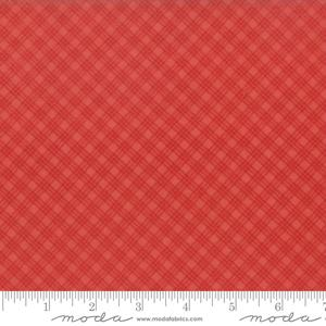 Moda Fabric Snowfall Prints - Poinsettia Bias Plaid