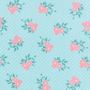 Moda Kindred Spirits - Light Aqua Medium Floral 2891-13
