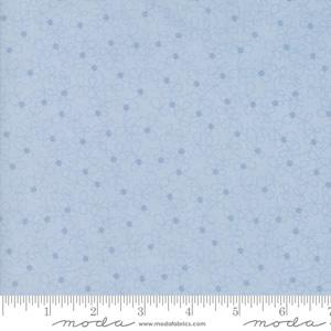 Moda Fabric Lily and Will Revisited - Blue Dotted Flowers