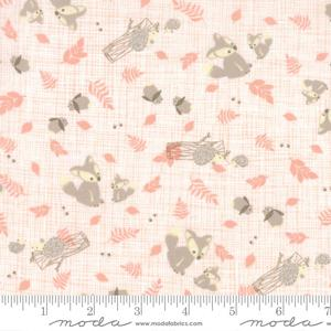 Moda Lullaby - Woodland Critters Peach 13151-18