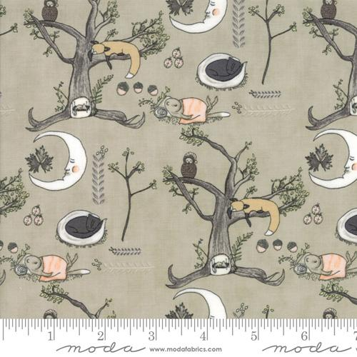 Moda Fabric Hushabye Hollow - Moonbeam Woodland Scene
