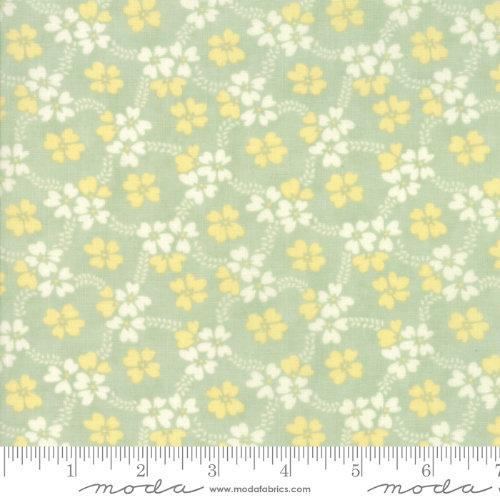Moda Fabric - Ella and Ollie - Pond Daisy Rings 20302-14