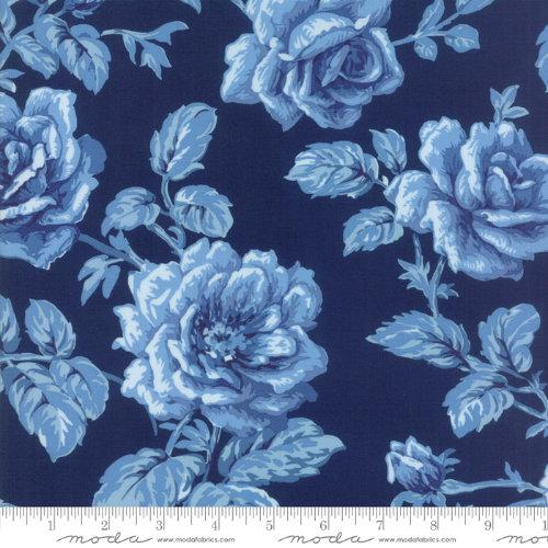 Moda Fabric - Regency Blues - English Blue Berwick