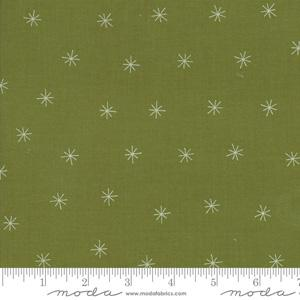 Moda Fabric Merrily - Holly Snowy Stars