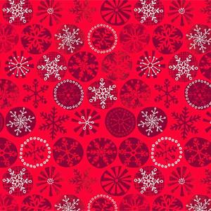 Makower Cool Yule Snowflake Red