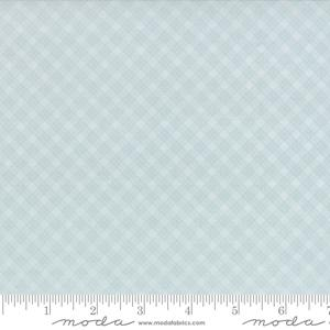 Moda Fabric Snowfall Prints - Ice Bias Plaid