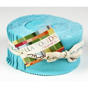 Moda Bella Solids Jelly Roll - Robins Egg Blue 9900-8