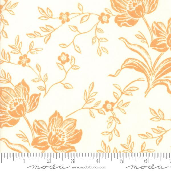 Moda Fabric - All Hallows Eve - Ghost Pumpkin Woodblock Floral
