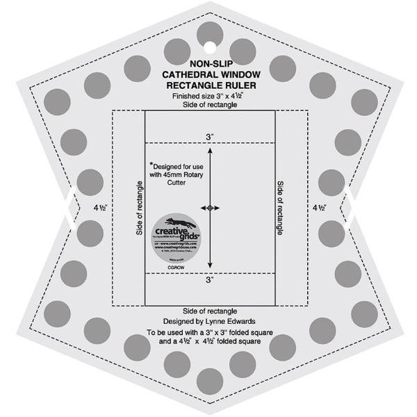 Creative Grids Non-Slip Cathedral Window Ruler - CGRCW