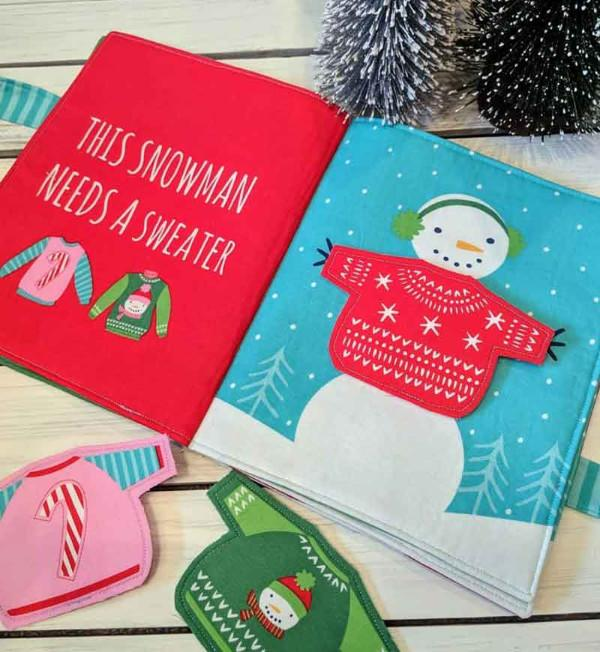 Moda Snow Day Christmas Book Panel