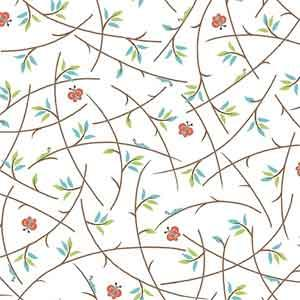 Quilting Treasures - Heads Up - White Branches