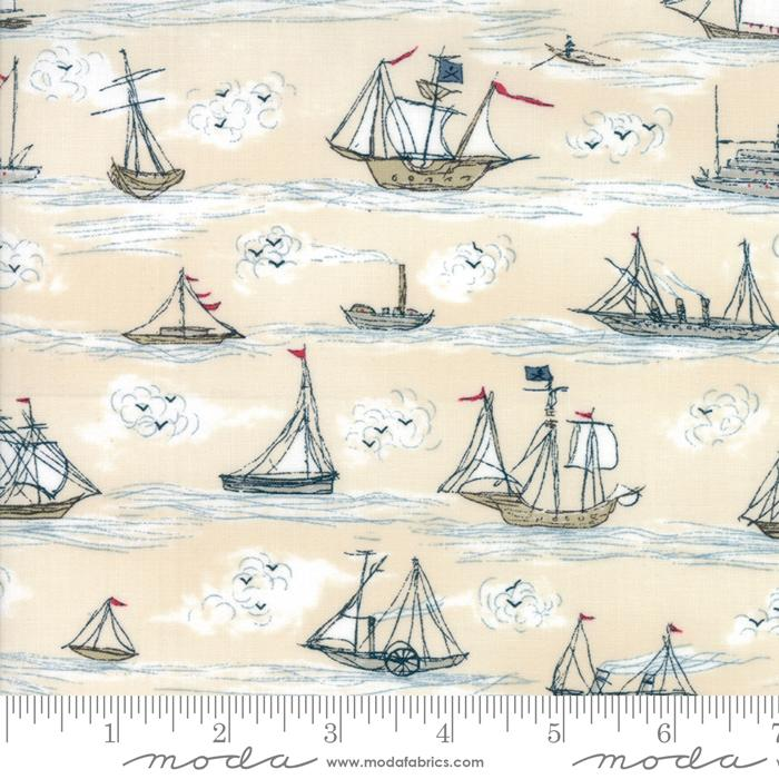 Moda - Ahoy Me Hearties - Multi Busy Seas