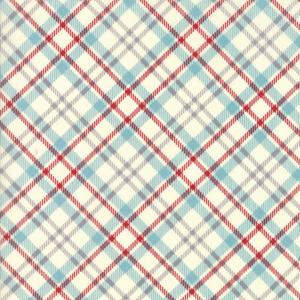 Moda Fabric - The Treehouse Club - Red on Vanilla Picnic Plaid