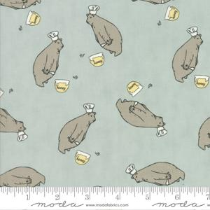 Moda Fabric - Darling Little Dickens - Puddle Honey Bear