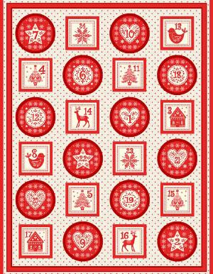 Makower Scandi Advent Pocket Panel