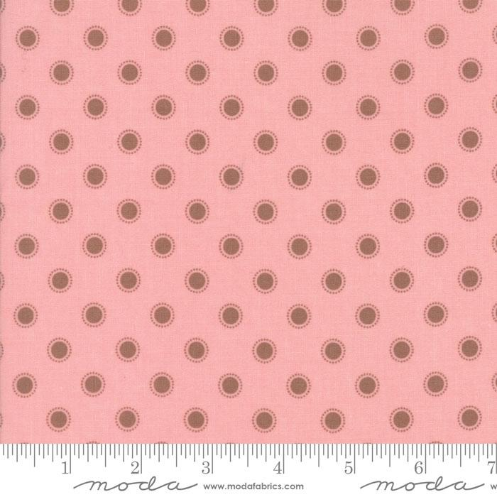 Moda Fabric - Olive's Flower Market - Pretty Pink Parisian Dots