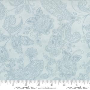 Moda Fabric Snowfall Prints - Ice Paisley Toile