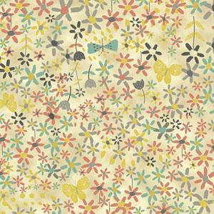Quilting Treasures - Bloom - Dark Cream Ditsy Floral