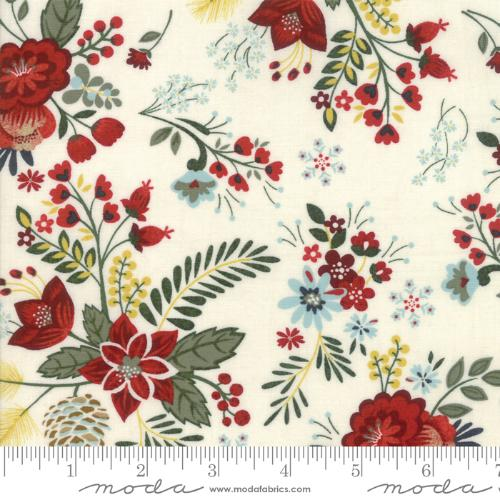 Moda Fabric - Winter Village - White Paper Clara