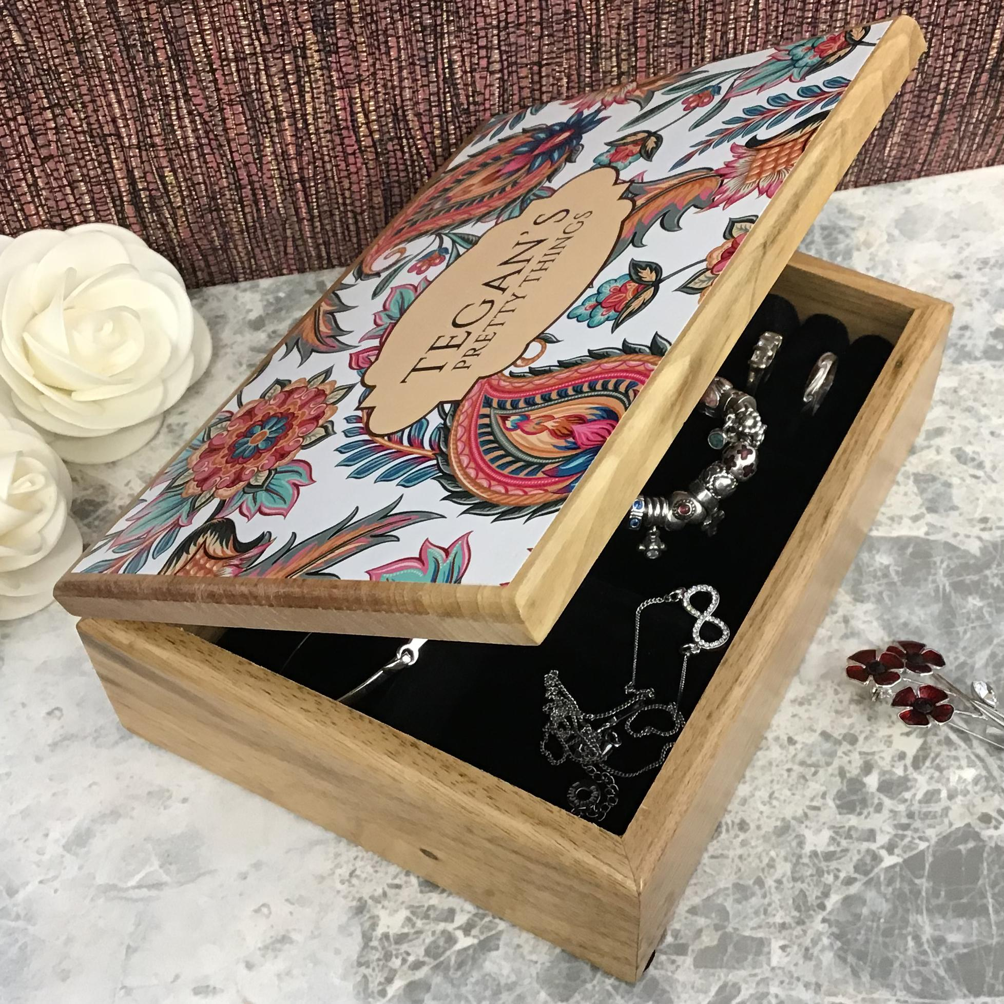 Personalised Oak Jewellery Box Gift