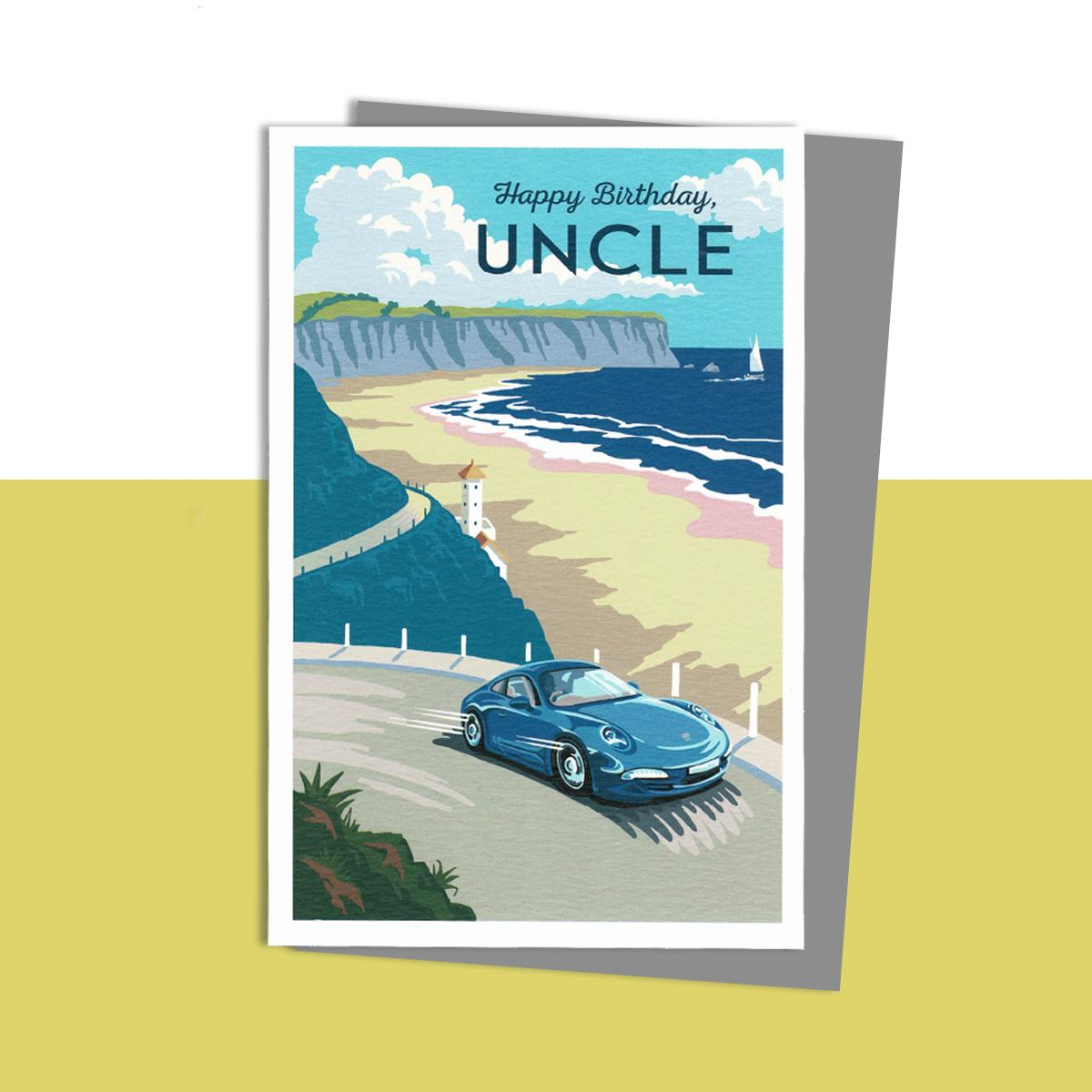 Uncle Birthday Card Sitting On A Display Shelf