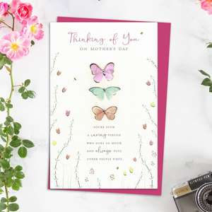 Thinking Of You Mother's Day Design Alongside Its Magenta Envelope