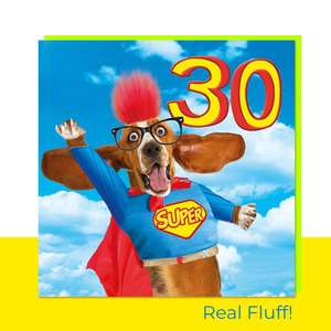 Fluff- 30 Today Superhero Card Front Image
