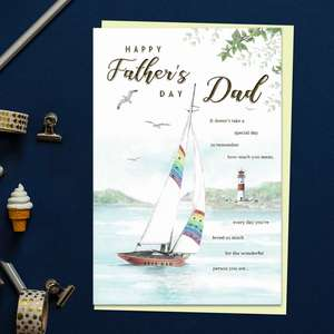 Happy Father's Day Dad Yachting Card Front Image