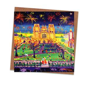 John Dyer Art Blank Greeting Card Alongside Its Kraft Envelope