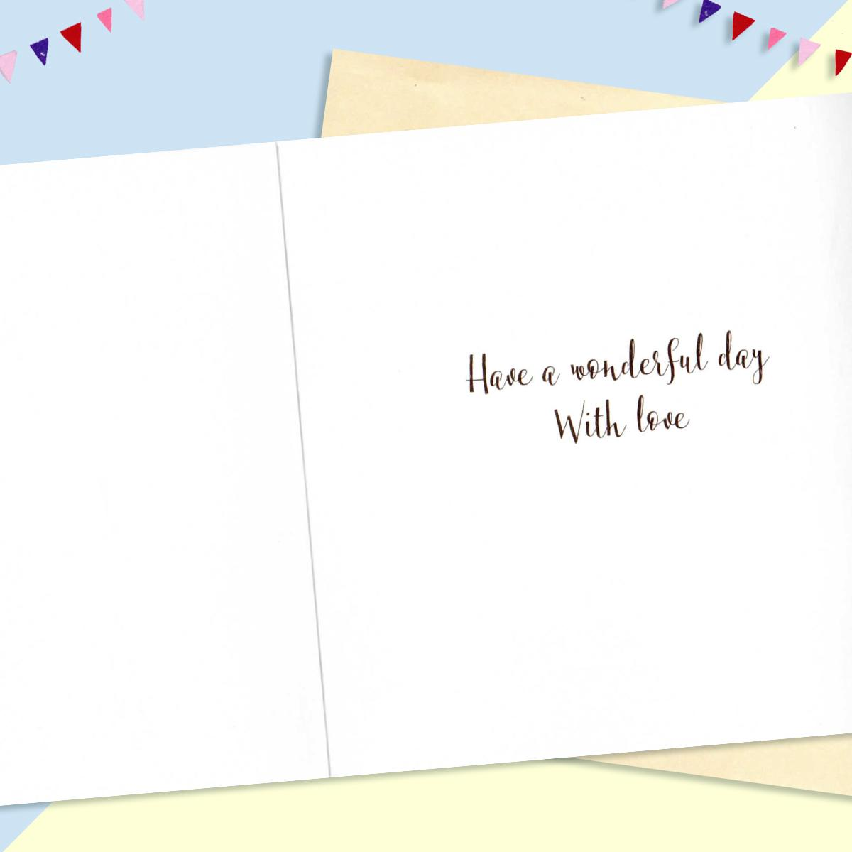 Inside Of Dalmatian Birthday Card Showing Printed Text