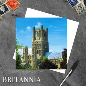 Ely Cathedral Cambridgeshire Blank Greeting Card