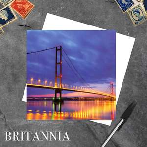 Humber Bridge, Lincolnshire Blank Greeting Card