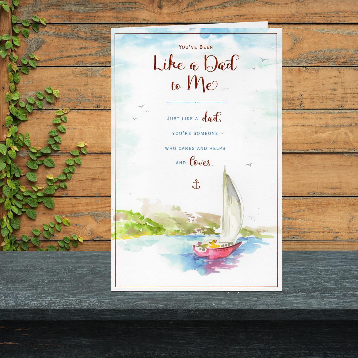 Like A Dad Birthday Card Showing A Sailing Boat