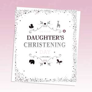 Daughter Christening Alongside Its White Envelope