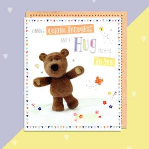 Sending A Hug Barley Bear Greeting Card And Envelope