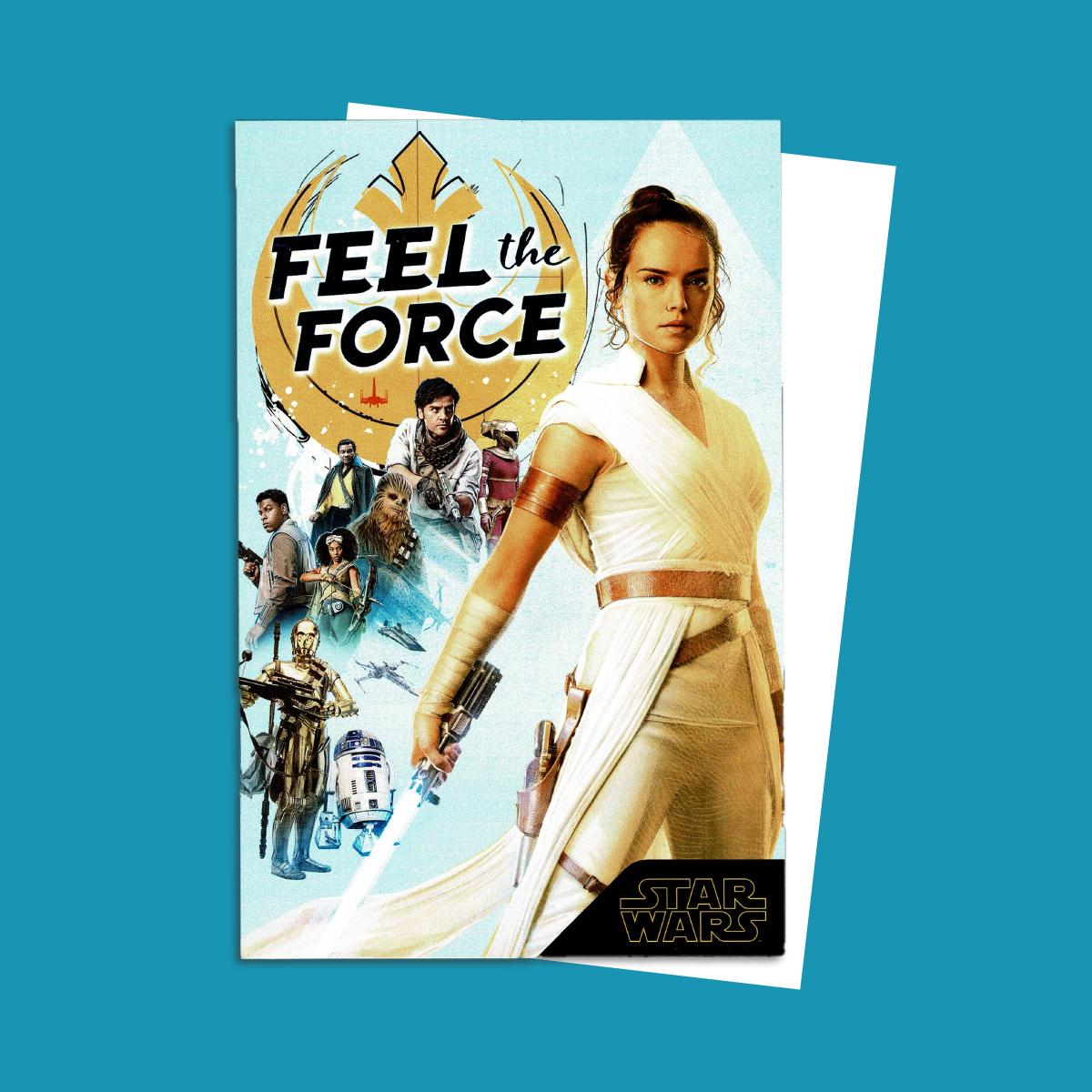 Feel The Force Star Wars Card Alongside Its White Envelope