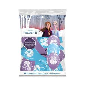 Image Of Packet Of 6 Disney Frozen 2 Latex Balloons