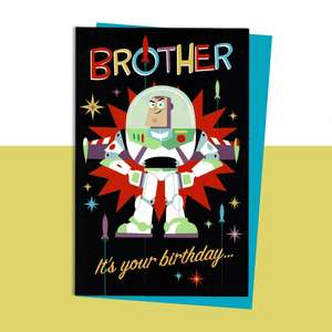 The Muppets Brother Birthday Card Sitting On A Display Shelf
