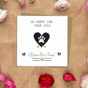 Pet Sympathy Design Complete With Kraft Envelope