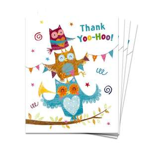 Pack Of 4 Mini Thank You Cards Displayed